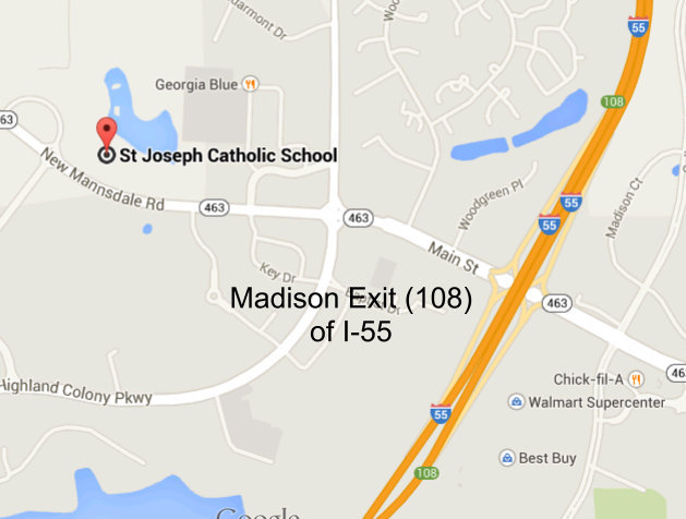 Map to St. Jo's
